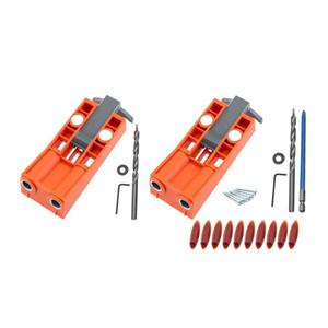 Carpintaria Oblique Buraco Locator Broca Guia Set bolso Buraco Jig Kit Guia de Brocas Set Puncher Locator com Fittings