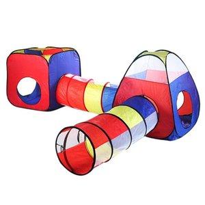 4pcs Indoor Outdoor Toys Tende per bambini Tunnel portatile Box Bambini Bambini Ball Pool Baby Game House Wave Ocean Ball giocattolo