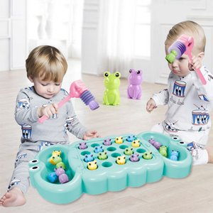 Baby Electric Music Toy Kids Play Hammer Catch Frog Greedy Beans Toy Parent-child Interactive Game Toys Children Early Education