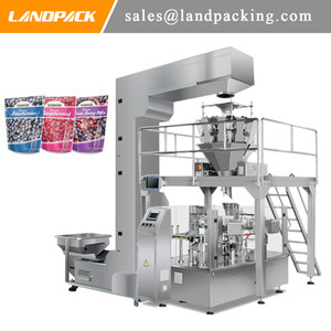 Multifunction Automatic Frozen Berry Frozen Fruit Stand Up Pouch Filling And Sealing Machine
