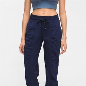 New Tissé Pocket Yoga pantalons longs en vrac danse Jogger Pantalon rapidement sec Sport élastique Sweatpants Pour Femmes Et Automne Hiver 72dq E19
