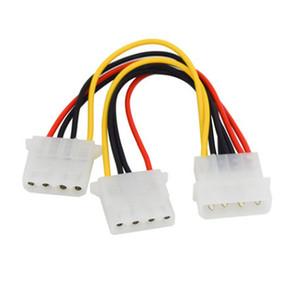4 Pin Molex Erkek 2 Port Molex IDE Kadın Güç Kaynağı Y Splitter Adaptör Kablosu PC Için Soğutma Fanı CD Sürücü Sabit Disk
