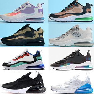 Nike air max 270 React airmax 270 V2 Running Shoes BAUHAUS HYPER JADE Deep Royal Blue Black OPTICAL моды мужские тренер дышащие кроссовки Sports размер 36-45