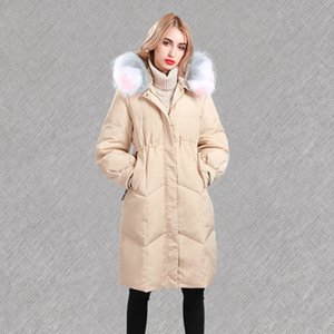 Soft  Newest thick women's down jacket woman winter long coat solid parka filler cotton ladies duck down jacket