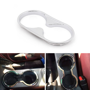 Areyourshop Car ABS Chrome Red Inner Rear Water Cup Holder Trim Fit For Wrangler 2011-2016 USA Car Auto Accessories Parts