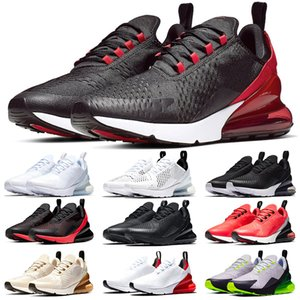 Nike Air Max 270 pas cher Hommes Femmes Chaussures Hommes Noir Blanc Triple formateurs Bred Orbit Hot Red punch Platinum Tint haute qualité chaussures de sport Runner