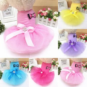 Dog Cat Bow Tutu Robe en dentelle Jupe Pet CHIOT Princesse Costume Vêtements Vêtements