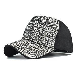 Nouvelle casquette de baseball diamant flash chapeau de panneau lumineux lavé bouchon de forage chaud dames extérieur chapeau de soleil
