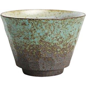 Coarse ceramica giapponese Tazza da tè verde e nero fatto a mano di colore in ceramica di Kung Fu Tea Cups piccola Tea Bowl Retro Home Decor