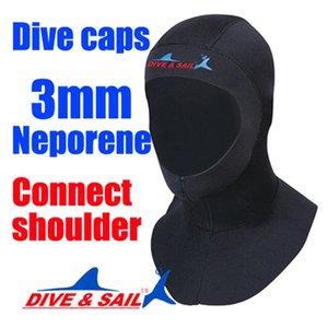 3mm Neoprene Scuba Diving Cap Equipment with Shoulder Snorkeling Hat Hood Neck Cover Winter Swim Warm Wetsuit Protect Hair