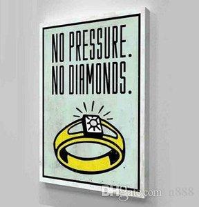 Алек монополия нет давления нет алмазов ручная роспись / HD печать мультфильм граффити поп-арт масляная живопись на холсте мульти размеры 208 200314