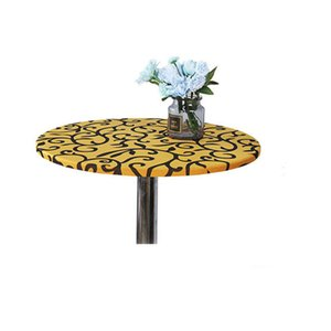 60cm 70cm 80cm Cocktail Table Cover Round Tablecloth Cocktail Bar Table Cover Stretch Coffee Hotel Table Cloth for Wedding Party
