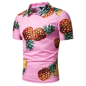 2019 New Style MEN'S Wear Summer Men's 3D Digital Pineapple Printed Casual Short Sleeve T-shirt Polo Shirt