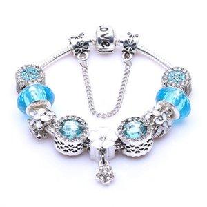 Al por mayor-Nueva moda europea encanta las pulseras para las mujeres 925 de la aleación cadena de la serpiente de los brazaletes joyería al Childrens día como un regalo # 250