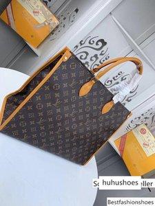 # 9557 Yüksek uç onthego Bez Bagss Kadınlar Handbagss Klasik Debriyaj Üst Kol Akşam Gerçek Deri Büyük Capacity Alışveriş Bagss Eather