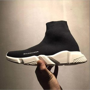Hot New men and women Speed Trainer High Quality Luxury Sock Speed stretch-knit Sport Shoes Light Hiking Best casual Shoes Mid sneakers