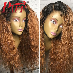 PAFF Ombre 1b 27 Human Hair Wigs 13x6 Lace Front Pre Plucked Brazilian Remy Hair Wigs with Baby Hair Ombre Color Lace Wigs