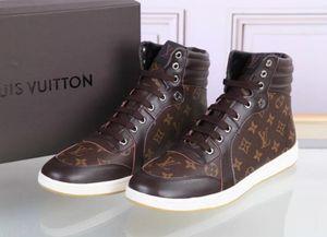 Sıcak Boots Sneaker erkekler Tasarımcılar Yüksek üst erkekler Ayakkabı Erkek Eğitmenler Deri Platformu Düz Günlük Ayakkabılar Spor Sneakers Yok Box588louis1688
