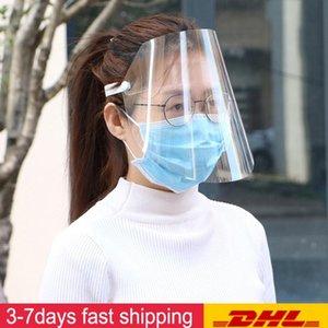 UPS libera el envío de protección ajustable contra la gotita a prueba de polvo cubierta completa de la mascarilla de visera de la gotita a prueba de viento careta lavable
