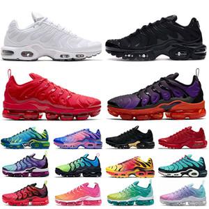 Nike air max Plus TN plus shoes gratis nuevos zapatos de los hombres zapatillas de deporte respirables Air Cusion zapatos zapatillas de deporte nueva llegada colores 40-46