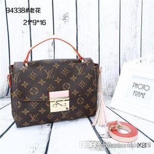 2018 styles Handbag Famous Designer Brand Name Fashion Leather Handbags Women Tote Shoulder Bags Lady Leather Handbags Bags purse943388 A178