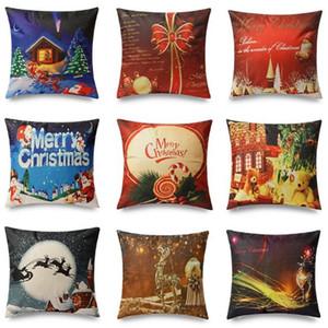 45*45cm Merry Christmas Pillow Case Xmas Designed Throw Pillow Cover Cushion Decor Christmas Decoration for Home