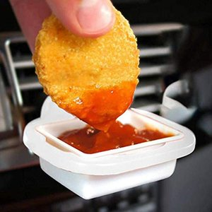 Universal Vent In Car Drinks Cup Saucem Dip Clip In-Car Sauce Holder For Ketchup Dipping Sauces 2020 New #LR1