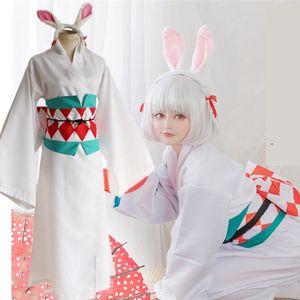 Onmyoji Cosplay Harajuku kimono Coniglio animado Uniforme de Halloween Carnevale