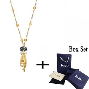 Fashion Glamour New TAROT MAGIC Pendant Necklace Shiny Hand Crystal Retro Temperament Lady Jewelry Best Romantic Birthday Gift