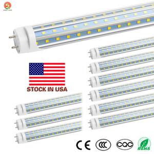 US STOCK + Cnsunway LED 4ft 1200MM 60W V-Shaped T8 LED fluorecent tube light G13 1.2m 22W SMD2835 Tubes Lamps AC 85-265V