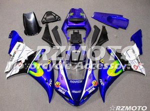 OEM Kalite Yeni ABS Tam Fairing Setleri R1 02 03 Yamaha YZF için uygun YZF1000 2002 2003 R1 Kaporta Özel Mavi set