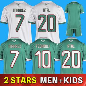 2 stars du football Coupe d'Afrique 19 2019 20 Algérie Maillots Mahrez Feghouli Atal BRAHIMI BELHAJ 2020 personnalisé Domicile Extérieur adulte Chemise enfants de football