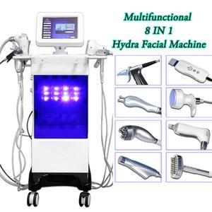 برو بالموجات فوق الصوتية جلدي hydrodermabrasion الوجه آلة هيدرا الجلد الغسيل المسام الجمال جهاز التطهير الوجه الجلد تشديد