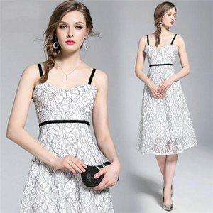 2020 fashion strapless ladies cotton linen summer dresses evening dress princess dance party catwalk custom banquet dress bridesmaid dresses