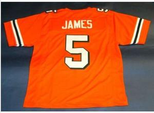 Donna-Uomo della gioventù Vintage # 5 Edgerrin James DI Miami Hurricanes College Football Jersey formato s-4XL o personalizzato qualsiasi nome o numero di maglia