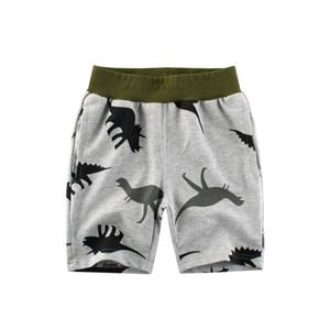 Erkekler 2-8 Yıl İçin Çizgi Dinozor Boys Şort 2020 Diz Boyu Yaz Plaj Pantolon Elastik Bel Çocuk Casual Şort