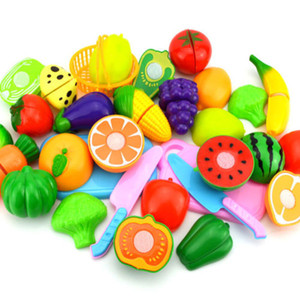Pudcoco Fashion Fruit Pretend Play Kids Kitchen Fruit Vegetable Food Pretend Role Play Cutting Set Toys Affordable 6Pcs Hot