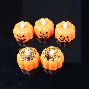 LED Pumpkin Candles Lanterna Zucca Design Durable LED Night Light Mini lanterna di zucca elettronica per la decorazione di Halloween Party