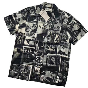 Erkek T Shirt Wacko MARIA Gevşek Gömlek Kısa Kollu Hırka YOHJI Moda Siyah Gevşek Gömlek Kadın tişört Casual High Street M-XL