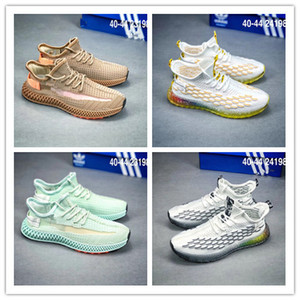 2019 Snake face weaving kint zapatos casuales Rainbow transparente hombre inferior Real Boost Sneakers tamaño 40-44