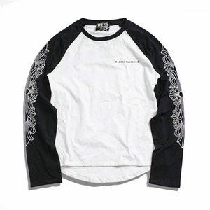 T-shirts Casual Street lâche ras du cou à manches longues T-shirts Mode Hommes T-shirts Creative imprimé Mens Designer