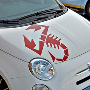 1pcs for Fiat 500 595 Abarth Scorpion Car Bonnet Side Stripes Stickers Decal Graphic Da4-0011 Car Styling Accessories