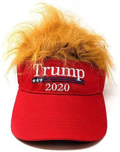 2020 ترامب الشعر قبعة بيسبول مضحك في الهواء الطلق ترامب 2020 إفراغ الغطاء الواقي من التطريز كاب شاطئ أحد القبعات XD22871