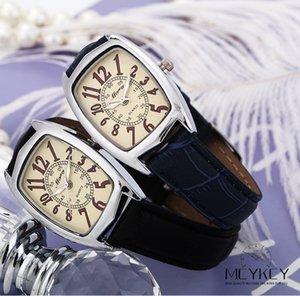 Fashion Damen Dress Watch Damen Armbanduhr Quarzuhren Damen Clock Lady Square Lederband Rechteck Casual