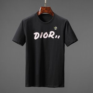 Lettera geometrico stampato Moda T Shirt Estate traspirante Tee magliette casual Uomini semplici donne di strada Maniche corte magliette