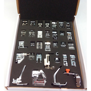 Máquina de Costura Doméstica Presser Pé Pés Kit Set Com Caixa Irmão Singer Máquinas De Costura Pé Ferramentas Acessório Ferramenta