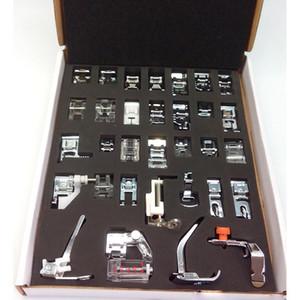 Máquina de coser doméstica Prensatelas Kit de pies de pies con caja Brother Singer Máquinas de coser Herramientas para pies Herramientas de accesorios