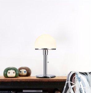 Lámpara de mesa de metal del hemisferio blanco de cromo nórdico de la lámpara de escritorio del lado de la cama del hogar del hogar TA104