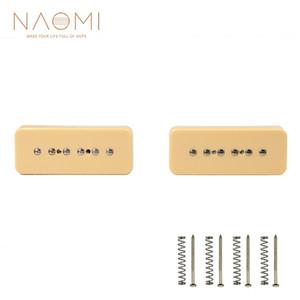 NAOMI 2pcs Soapbar Pickups 일렉트릭 기타 소프 바 싱글 코일 픽업 50mm 52mm Bridge Neck Pichup