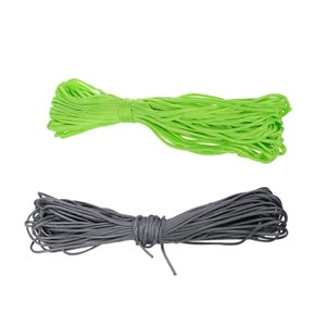 2Pcs 100Ft 7 Strand 550 Survival Bushcraft Paracord Parachute Cord Lanyard Type Iii - Grey & Neon Green Tents and Shelters
